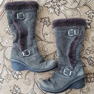 Baretraps Catchy suede faux fur winter boot 7